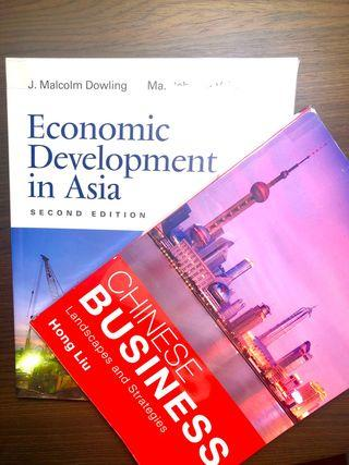 Economic Development in Asia (2nd Ed) & Chinese Business.