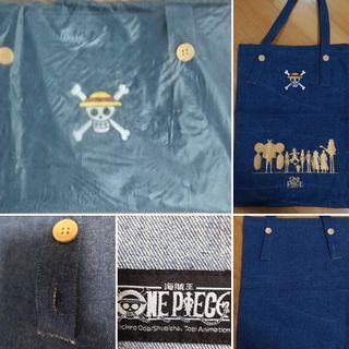 💢包郵💢One Pieces 海賊王環保袋 牛仔布袋