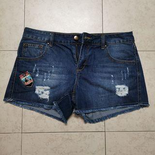 Jeans Shorts with Design