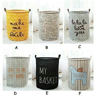 Cotton/Linen Laundry Basket Washing Storage