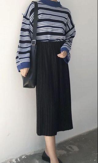 黑色 百褶裙