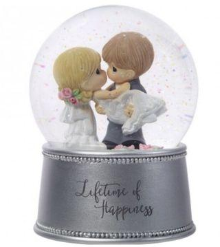 Precious moments lifetime of happiness musical snow globe