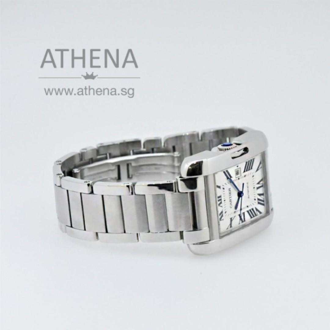 CARTIER TANK ANGLAISE AUTOMATIC W5310009 WITH CARTIER SERVICE PAPER PPWCT_022