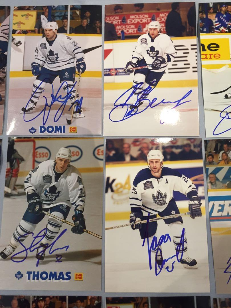 98-99 Toronto Maple Leafs Signed Autographed Photos + more