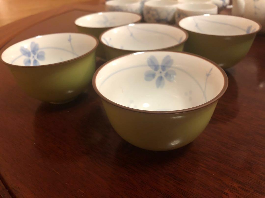 日本有田燒《瑞祥》手繪花茶湯杯碗