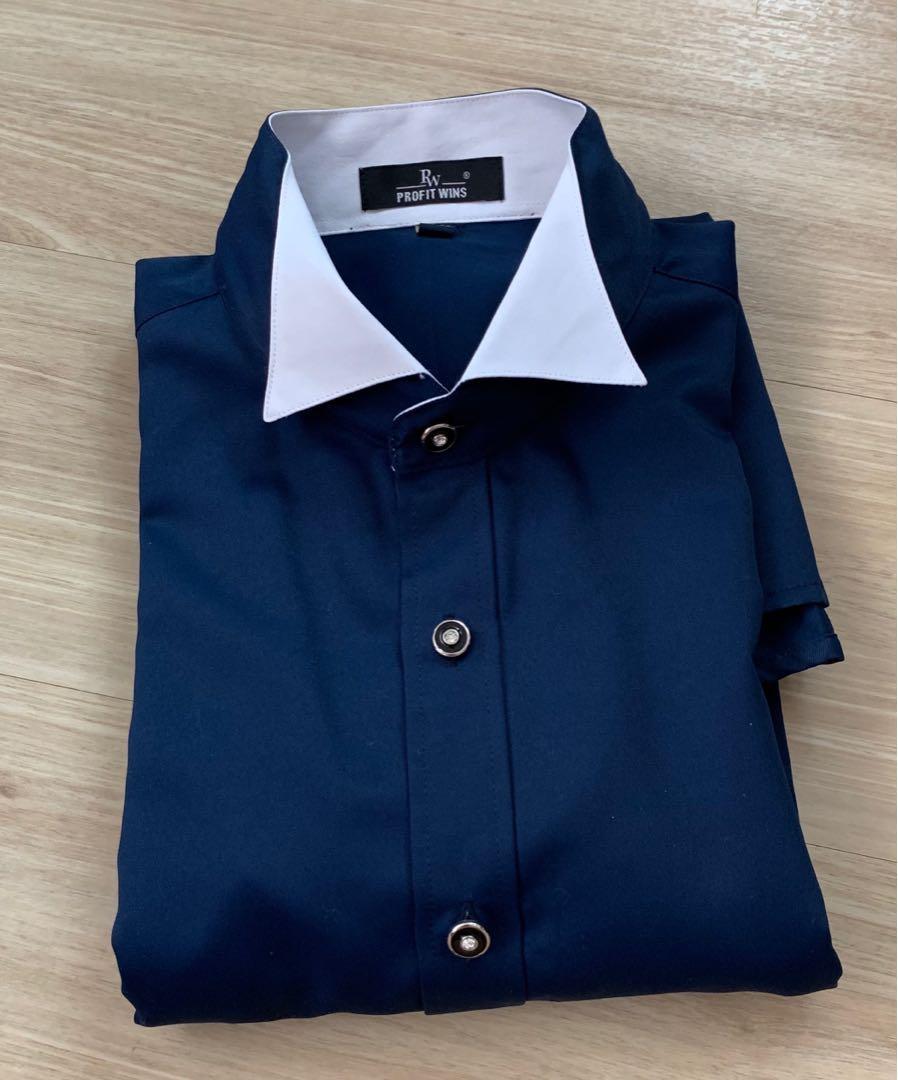 男士寶藍禮服裇衫 [包平郵]