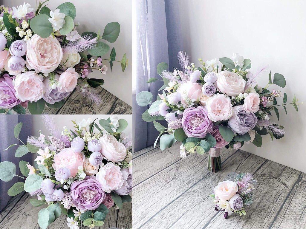 絲花花球 / 淡粉紫白色調