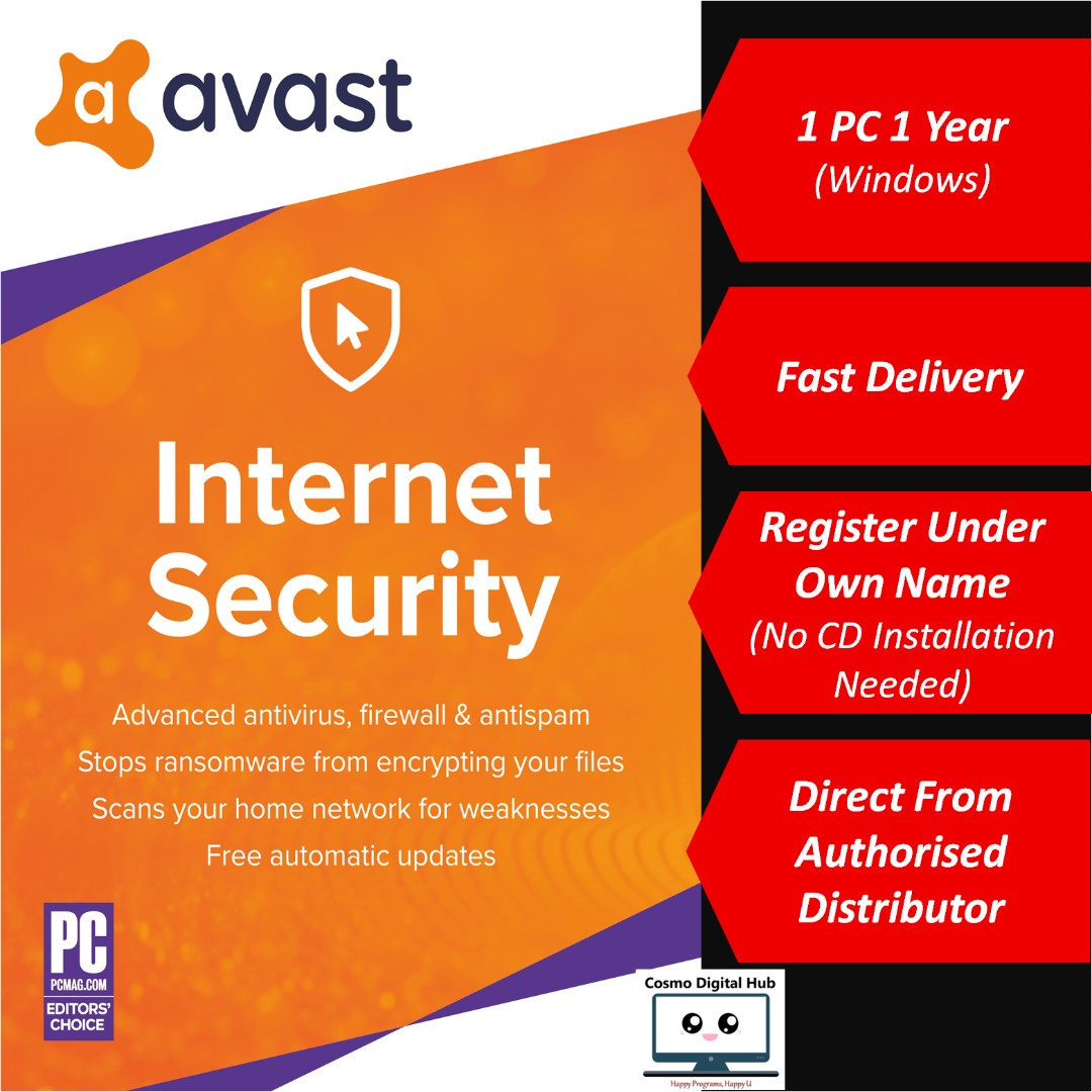 🛡️ Avast Internet Security 2019 - 1 PC 1 Year | Antivirus Protection,  Anti-Malware, Anti-Phishing, Anti-Spam And Hacker Protection For Computer,