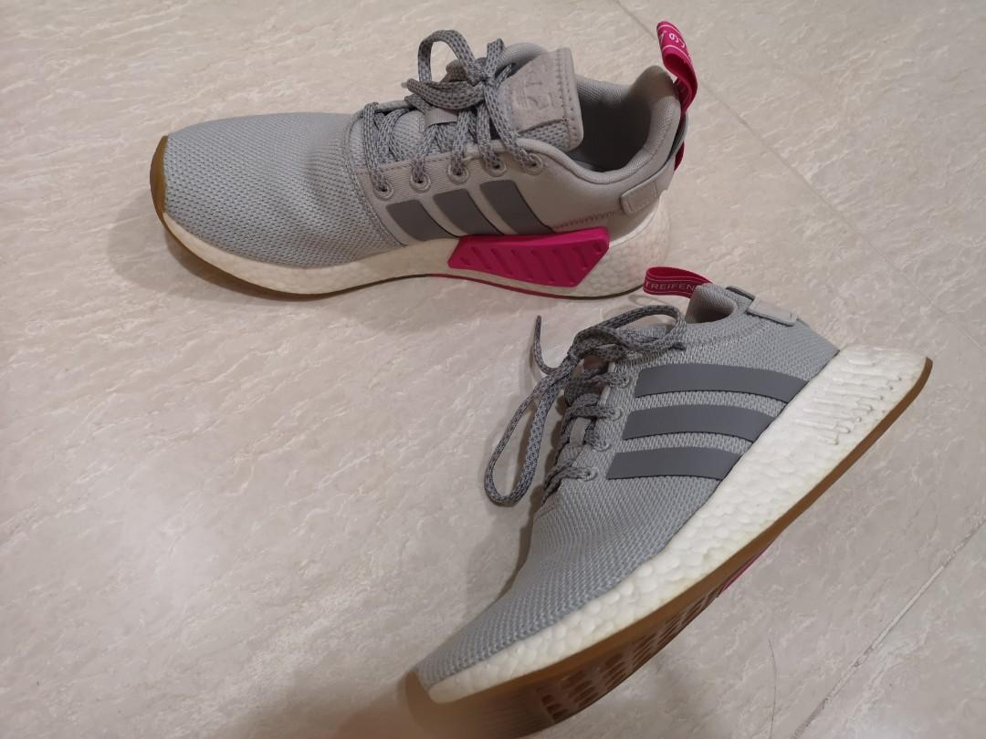 womens adidas nmd grey and pink