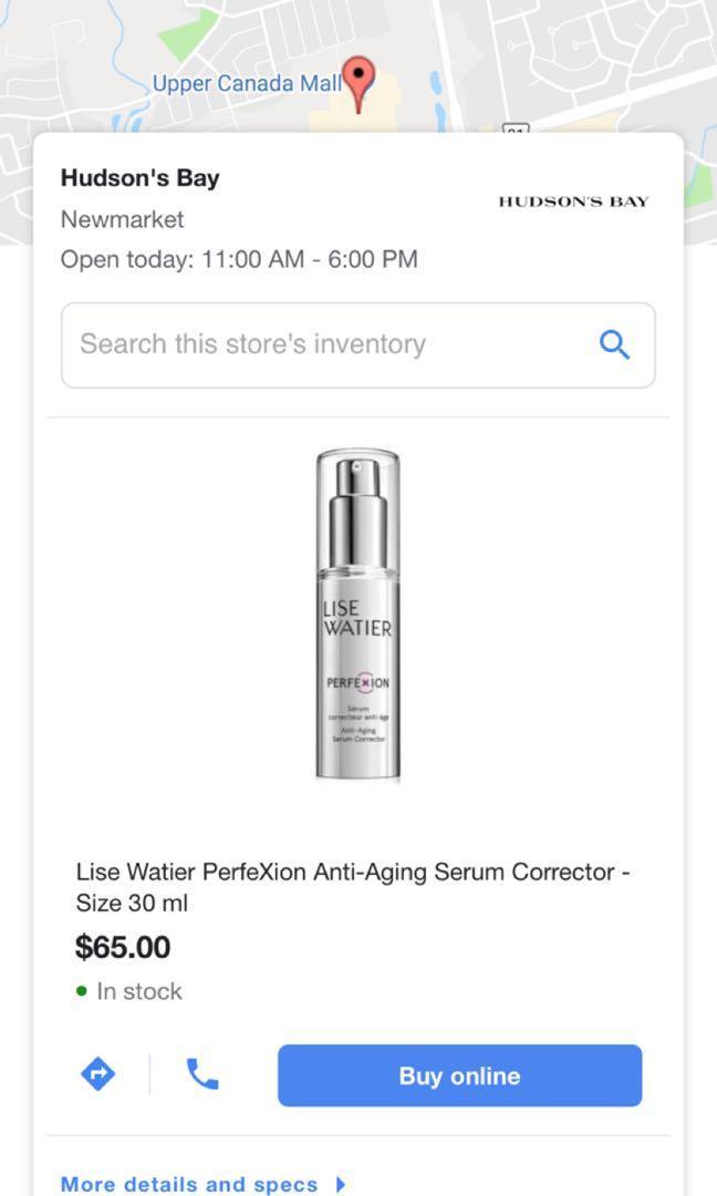 Brand new Lise Watier anti aging serum corrector 30 ml