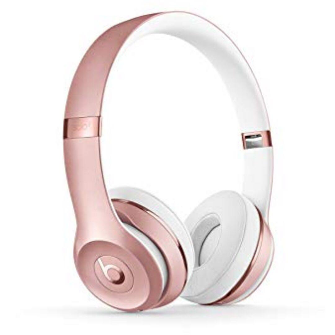 Brand New Rose Gold Beats Solo3 Wireless On-Ear Headphones