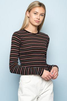 a9afab28ba6 Brandy Melville Authentic Black and White Long Sleeve Striped Top, Women's  Fashion, Clothes, Tops on Carousell