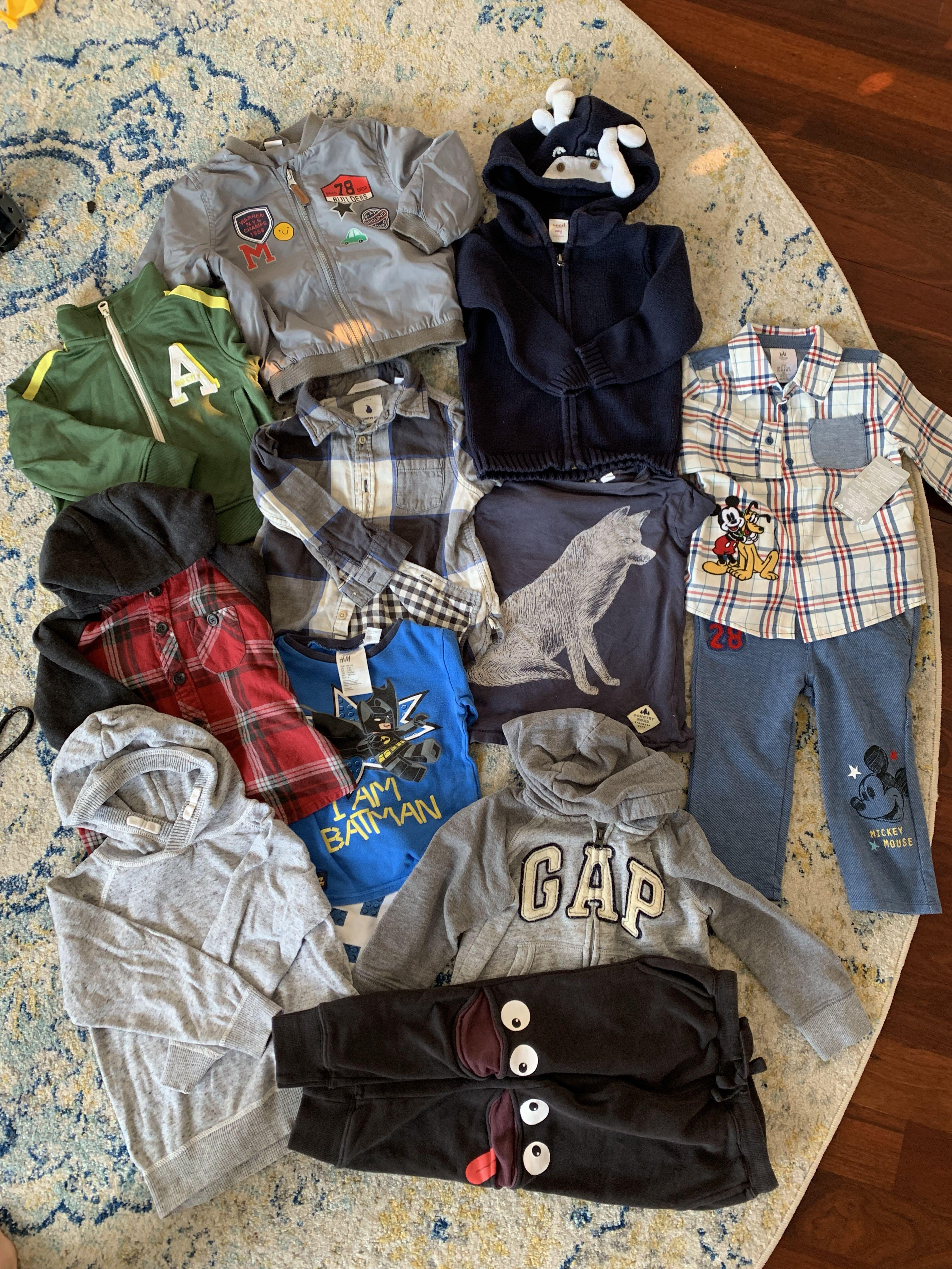 Bundle of branded boys winter clothing as new size 2