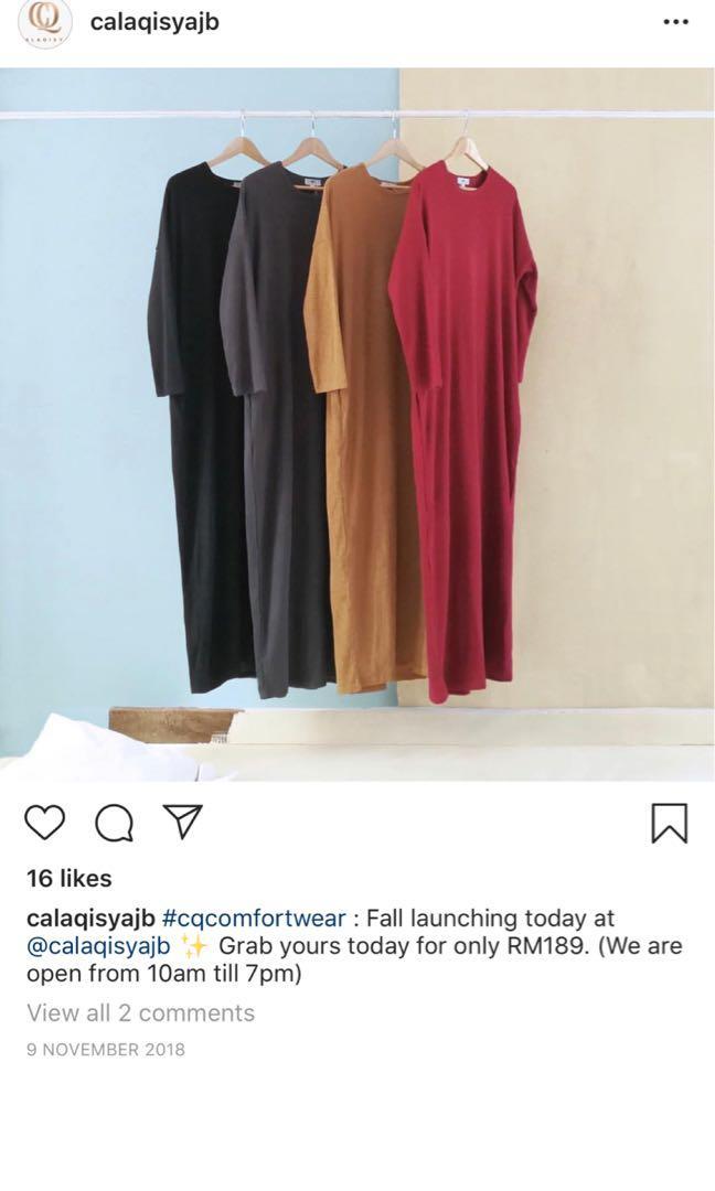 Calaqisya Fall Dress Comfortwear Black