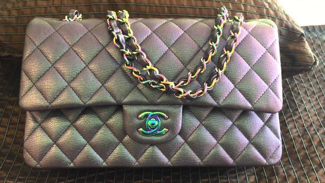 12eaab7c9b16 Chanel Iridescent Purple Mermaid Classic Flap Medium, Luxury, Bags ...