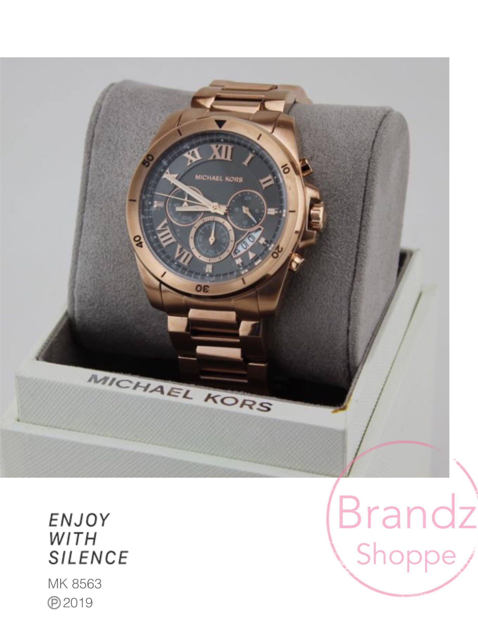 💥CLEARANCE SALE! 💯% MICHAEL KORS Brecken Grey Dial Men's Rose Gold Chronograph Watch (MK8563) Pre-Order NOW!!!