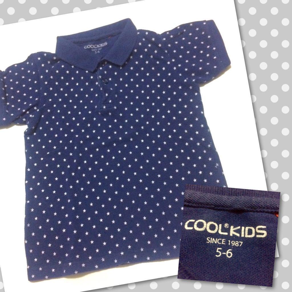 Cool Kids stars polo shirt 5-6y kaos anak lengan pendek