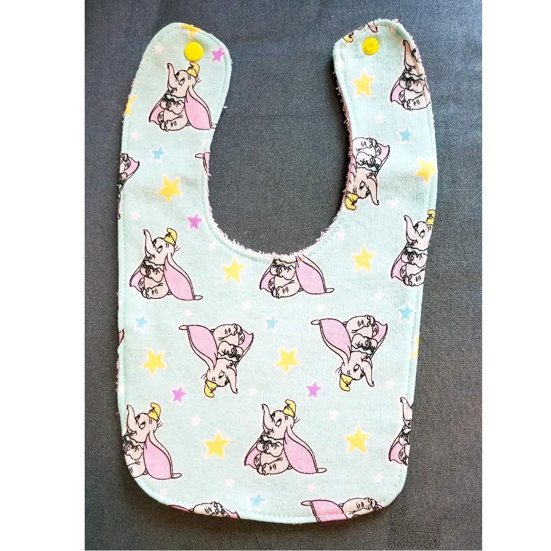 DISNEY  Dumbo 小飛象~全新 嬰兒用品 全棉 毛巾底 口水肩 Baby Bib 主圖款 #C (包平郵)
