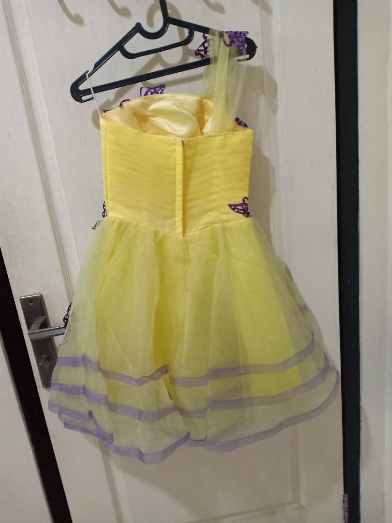 Dress Anak remaja gaun pesta one shoulder