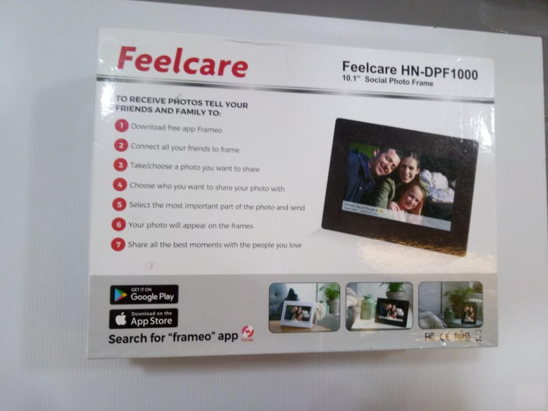10 Inch Smart WiFi Digital Photo Frame with Touch Screen Portrait/&Landscape 1024X600 IPS LCD Panel Wall-Mountable Instantly Sharing Moments,Black
