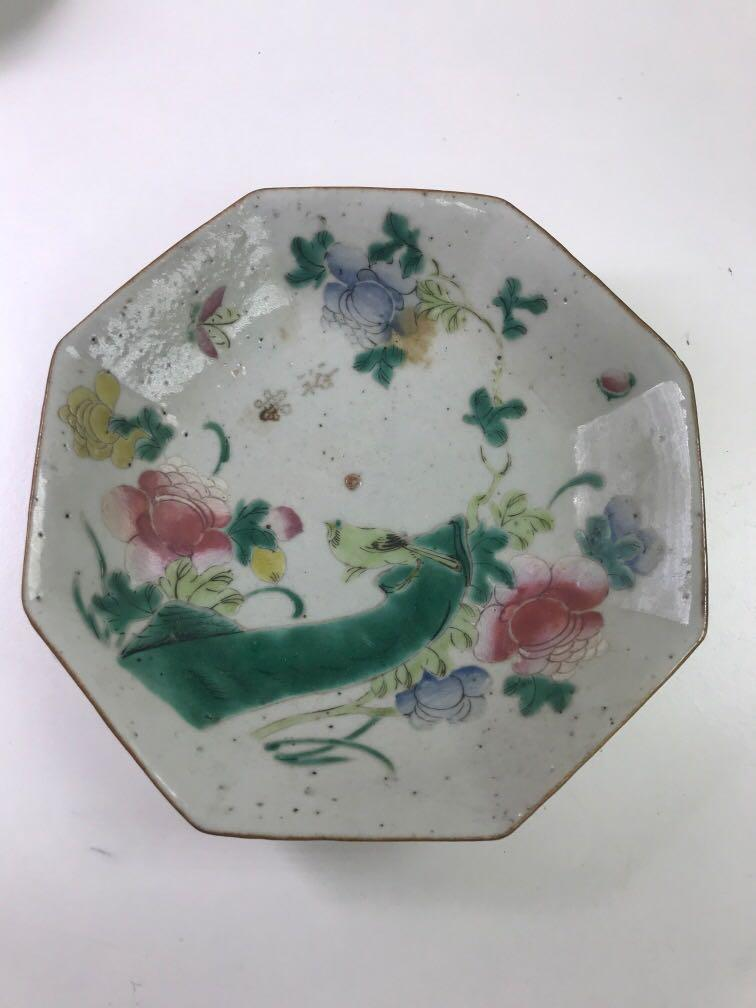 Flowers and Birds Antique Chinese Porcelain Compote