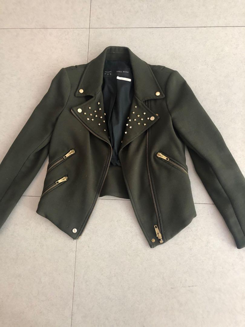 Forrest green motorcycle jacket