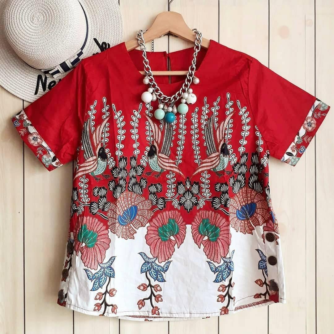 Galora bird flower batik top
