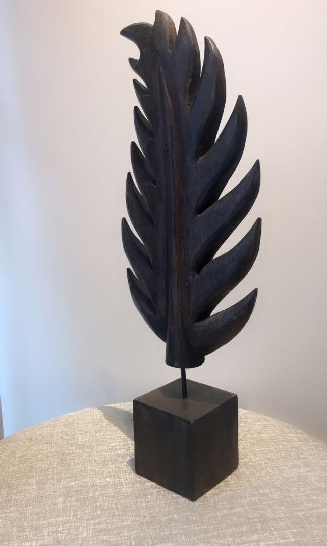 Handcrafted Wooden Art Leaf from Puri Padi