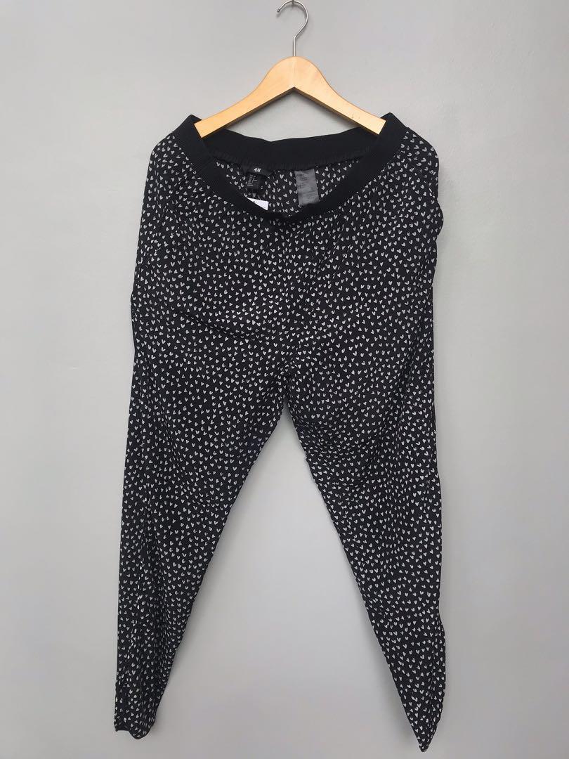 H&M Pants celana polkadot celana panjang