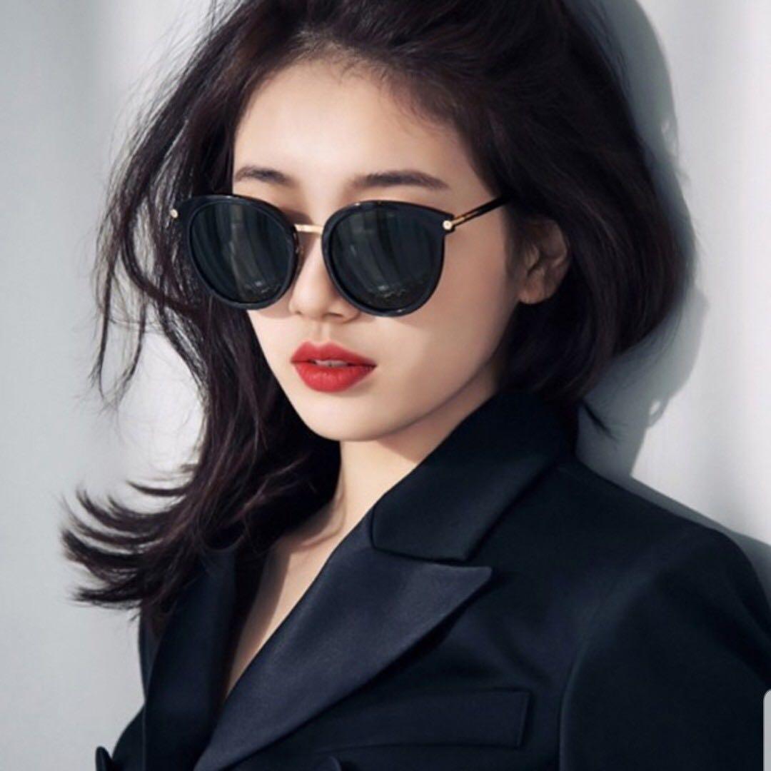 🔥HOT🔥 Korean Design Black and Blue Oversized Sunglasses