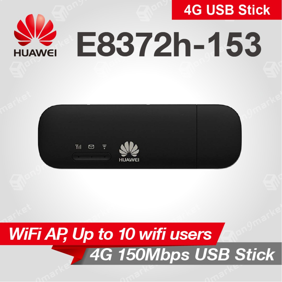 Huawei E8372 4G Sim Card USB Dongle Modem Car Mifi Wifi Router Wingle  (Brand New Official One Year Warranty) - Dongle USB Modem Stick Router  Wingle
