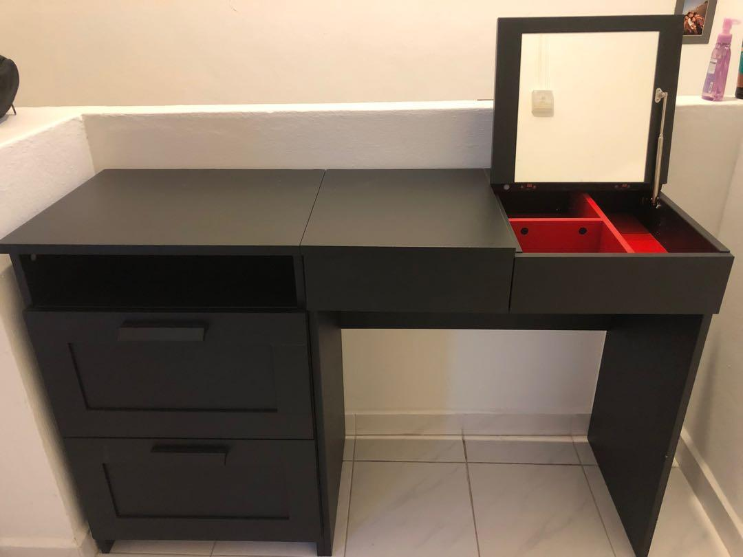 Ikea Vanity Table Furniture Shelves Drawers On Carousell