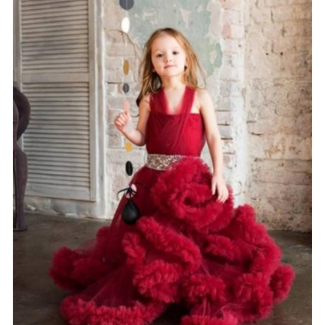 jual gaun pengapit anak / gaun anak perempuan / dress anak / dress pesta anak / gaun flowergirl