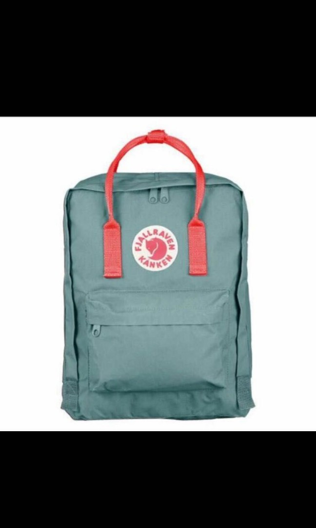 e7d311422 Kanken Backpack classic Medium frost green peach pink, Women's Fashion,  Bags & Wallets, Backpacks on Carousell