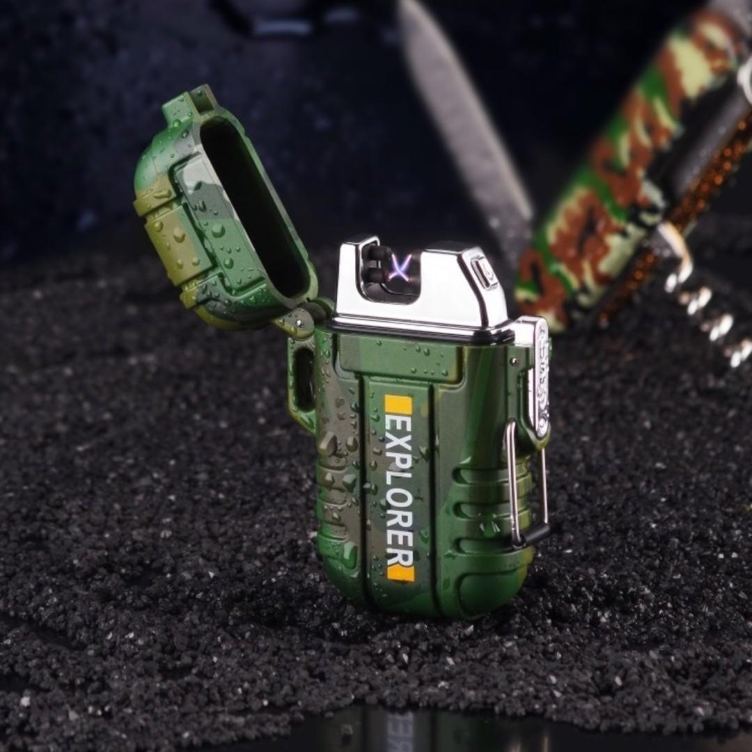 Korek Api Elektrik Pulse Plasma Lighter Waterproof - Explorer