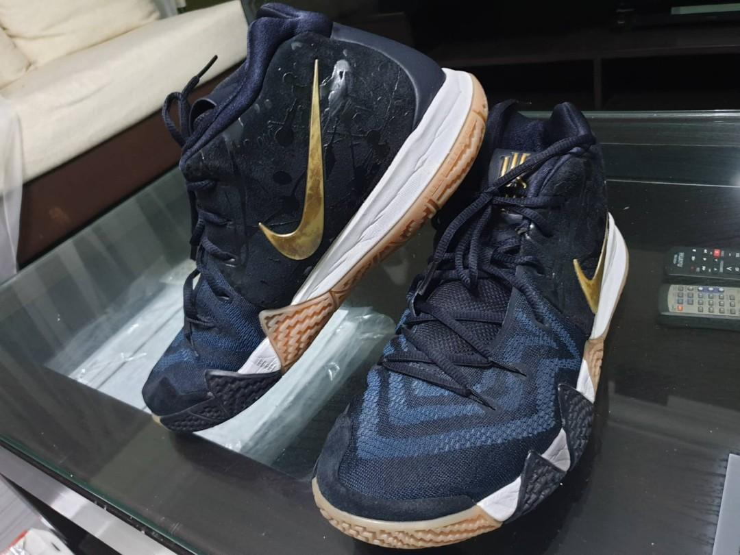 sports shoes bc6bc 139df Kyrie 4 Blue / Gold Size 11 US, Men's Fashion, Footwear ...