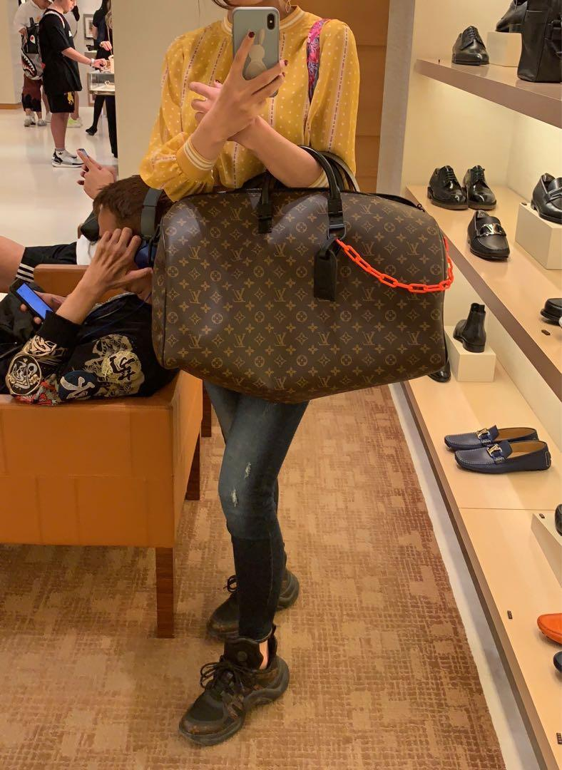 LV keepall Virgil Abloh Ss19 Bandouliere 50 monogram Canvas/leather trim travel bag , brand new full set with box and receipt