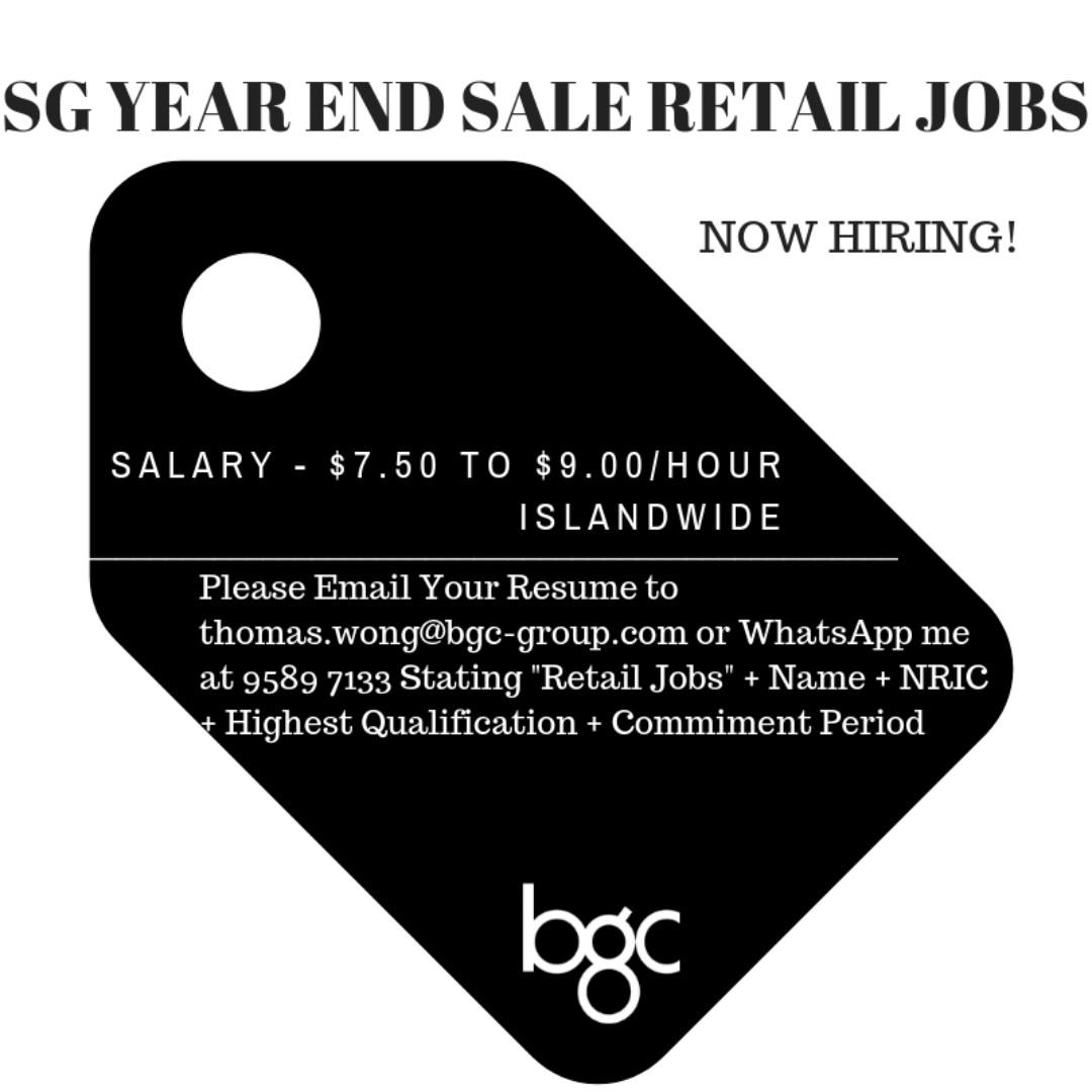 Multiple Retail Jobs!
