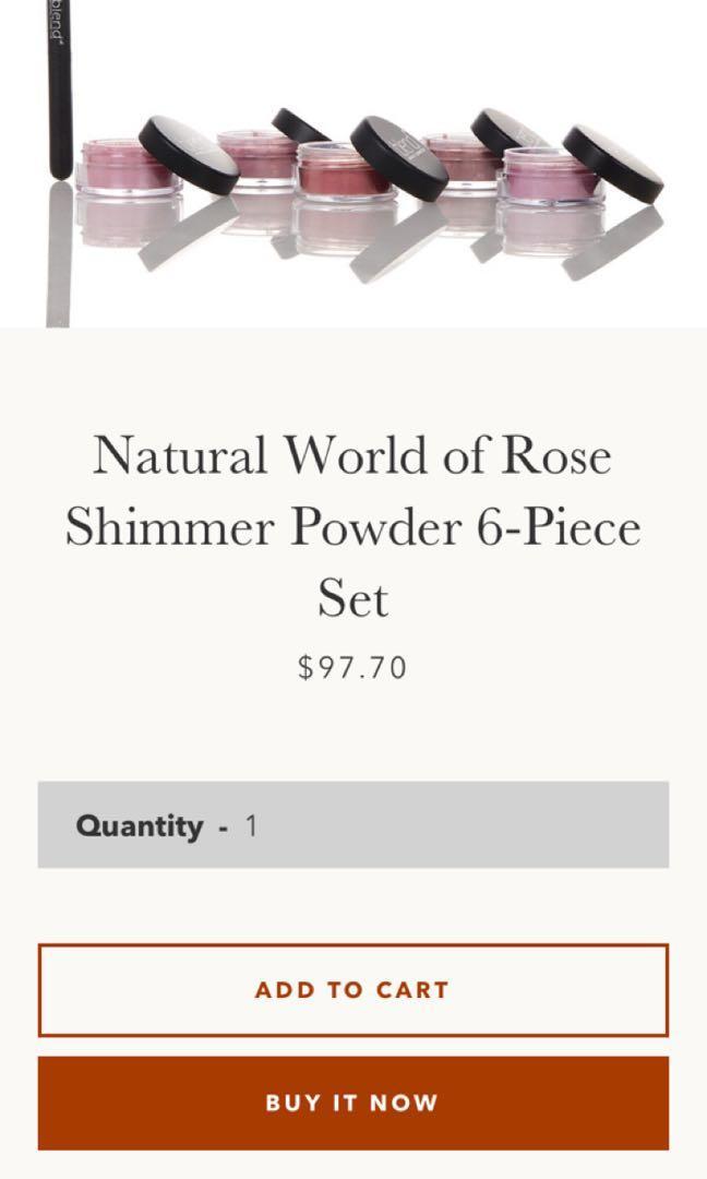 New professional blend minerals cosmetics rose eyeshadow set