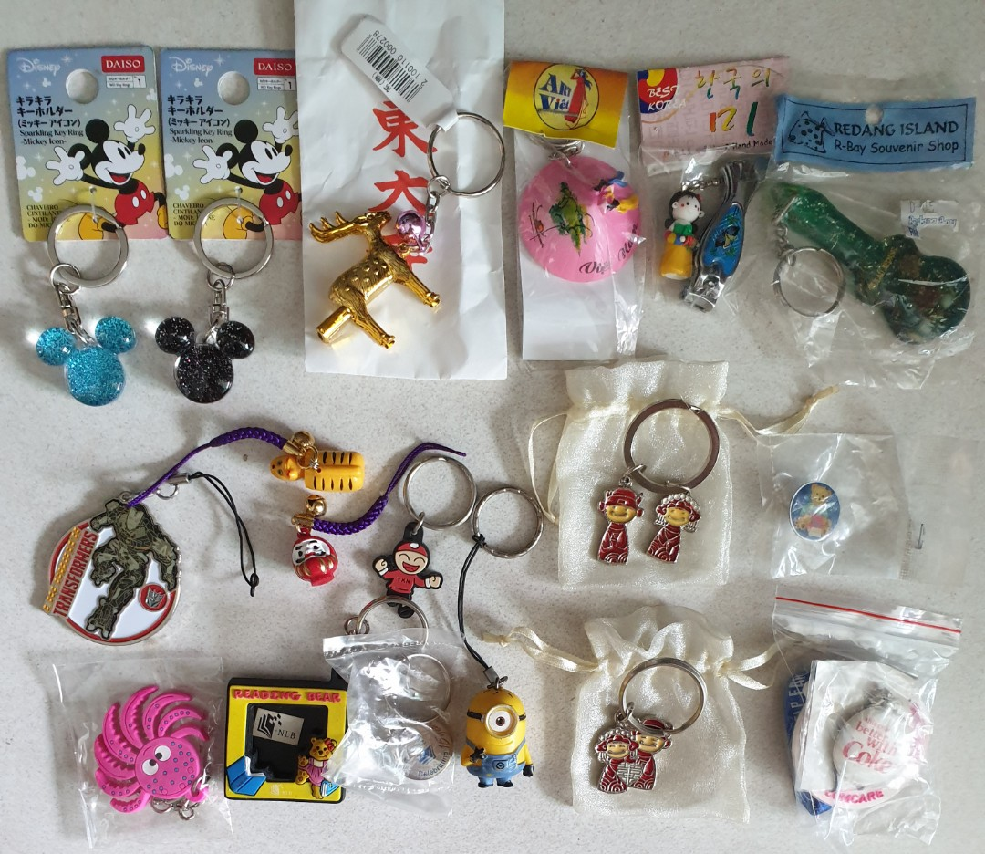 New Top row from Japan, Korea, Vietnam , Redang island  Keychain From  $0 50  Great for gift too 👍