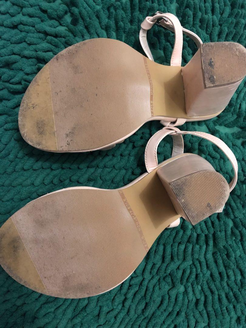 Nude Pink Beads Party Shoes/Sandals