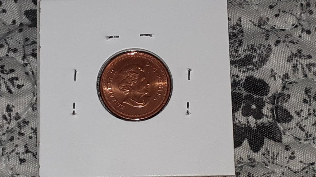 RARE 2006 No Logo, No P, Steel Core, Magnetic Canadian Penny