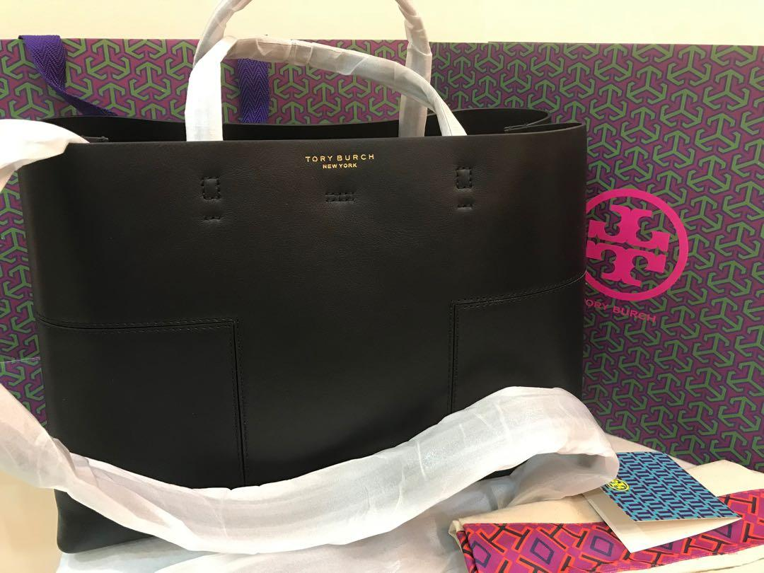 (Raya ready Stock Promotion) Authentic Tory Burch Block T triple compartment shoulder bag totes