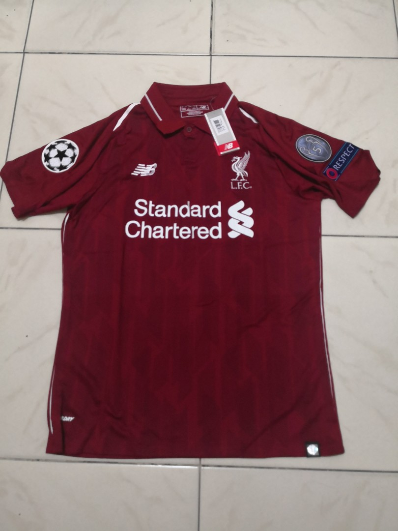 competitive price 04b3a 5dfc0 Ready Stock Liverpool Champion League Jersey