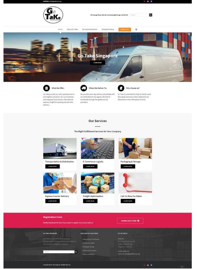 5 Pages Responsive Corporate Website