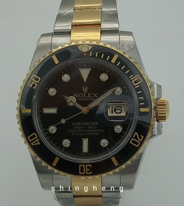 Rolex 116613ln Submariner Date Diamond Dial