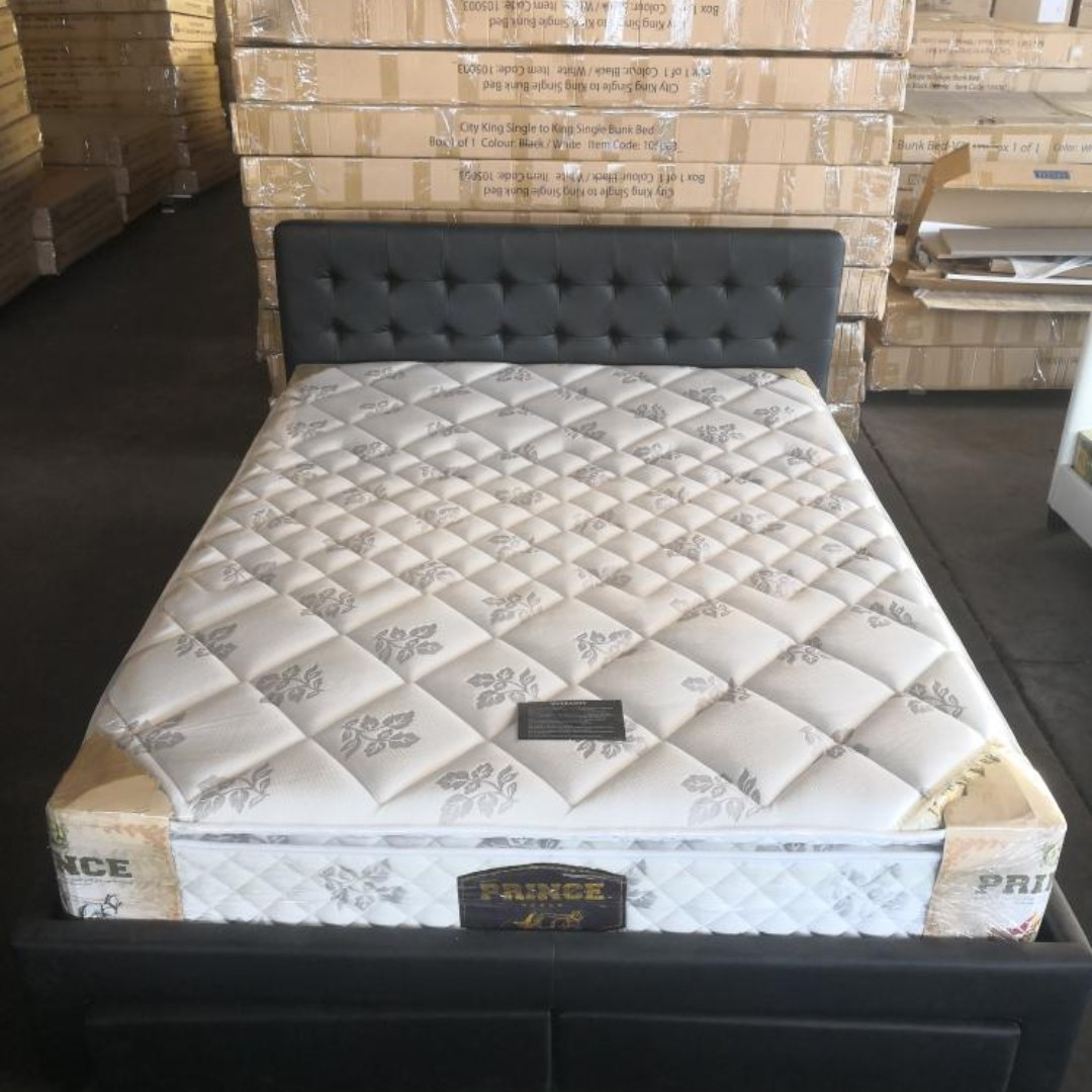 Selling Brand New Julie PU Leather double/queen bed in Black