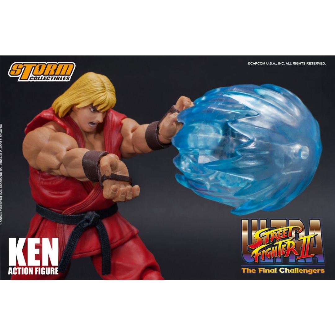 "Street Fighter II The New Challenger Ken 8/"" Figure Statue Toy SF II Collectibles"