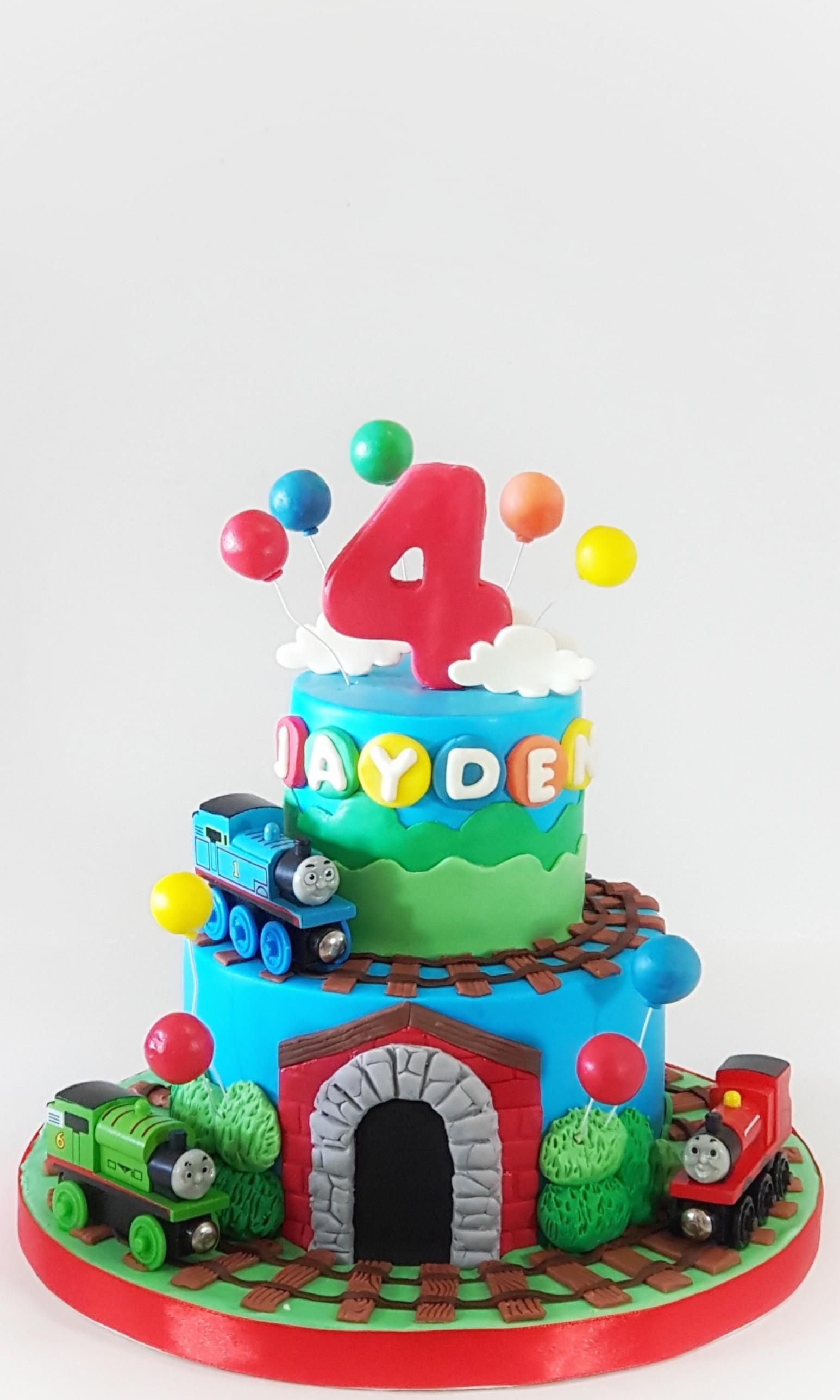Excellent Thomas And Friend Birthday Cake Food Drinks Baked Goods On Funny Birthday Cards Online Overcheapnameinfo