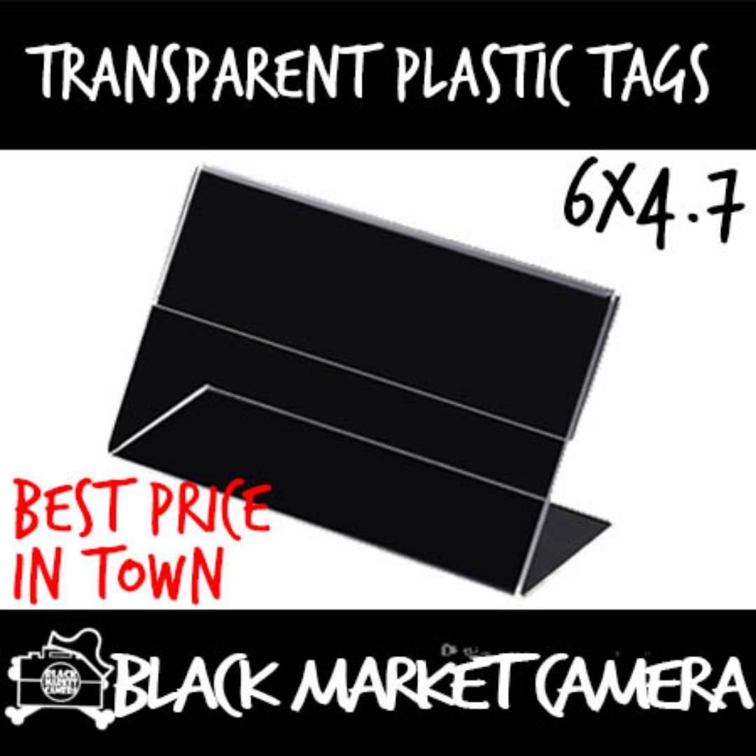 Transparent Plastic Tags ($10/ 10 Piece)